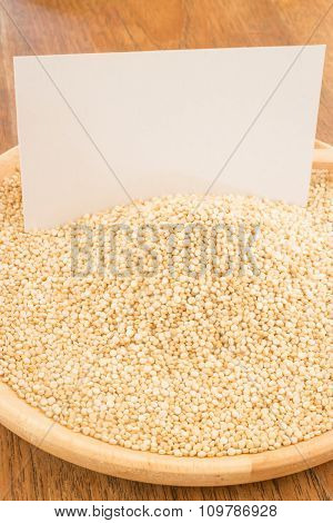 Organic Quinoa Grain And Business Card
