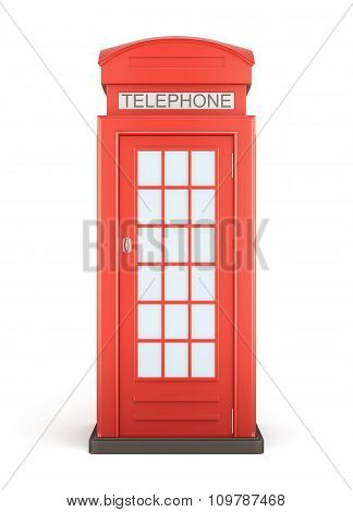 Phone Booth - Front View. 3D.