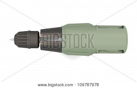 Electric Drill - Top View. 3D.