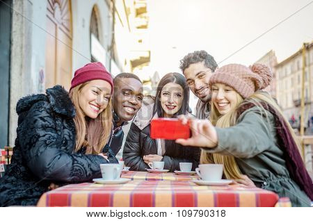 Friends Taking Selfie