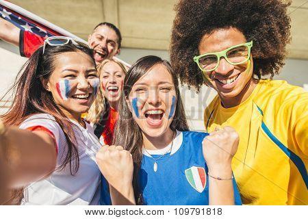 Sport Supporters At Stadium