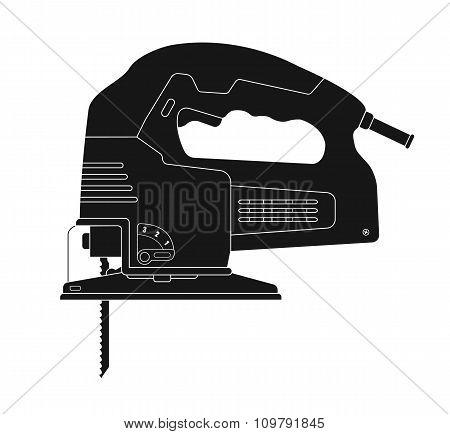 Electric jigsaw tool. Silhouette
