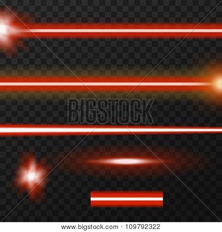 Laser beams pack