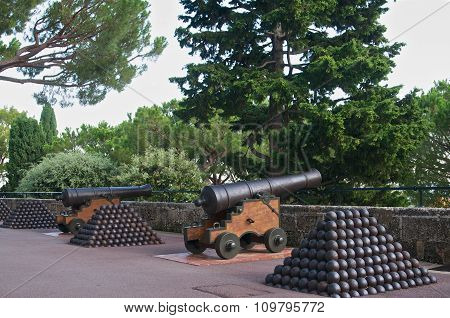 2 Cannons With Cannon-balls