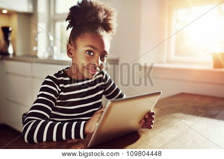 Thoughtful Young Black Girl