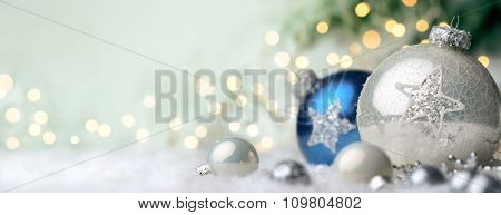 Christmas Ornaments With Copyspace