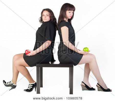Two Girl On Table