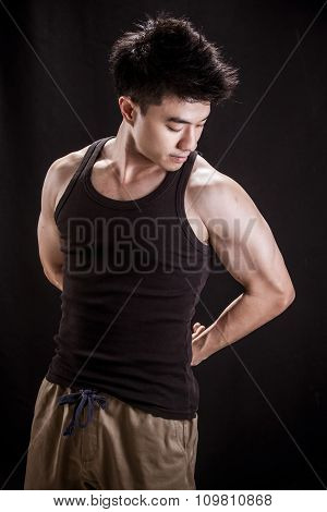 Fitness Level Young Man