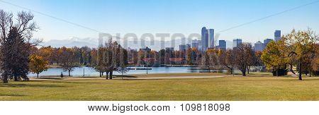 Denver Colorado Panoramic City Landscape