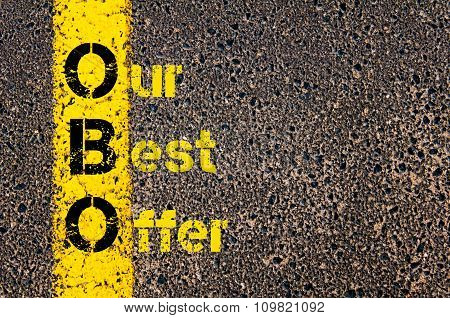 Accounting Business Acronym Obo Our Best Offer