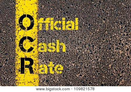 Accounting Business Acronym Ocr Official Cash Rate