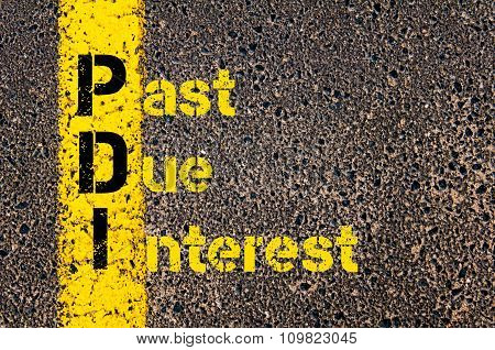 Accounting Business Acronym Pdi Past Due Interest