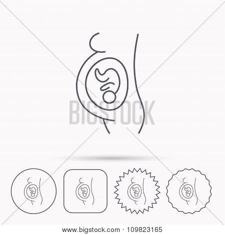 Pregnancy icon. Medical genecology sign.