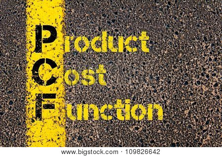 Accounting Business Acronym Pcf Product Cost Function