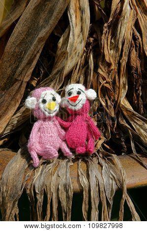 Monkey, Symbol,  Intelligent, Handmade, Knitted Toy