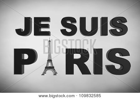 13 November 2015 Concept. Pray for Paris Sign on a white background poster
