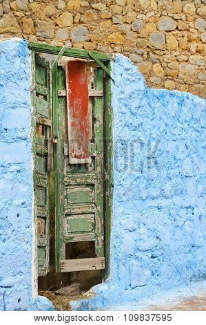 Medina of Chefchaouen, Morocco. Chefchaouen or Chaouen is known that the houses in this city are painted in blue.