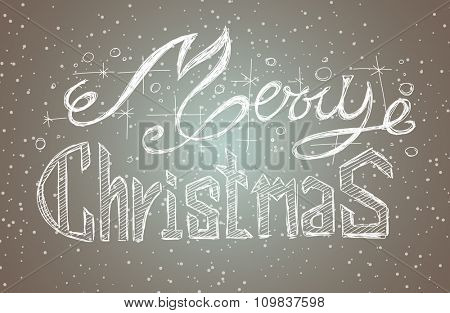 Merry Christmas Vintage Lettering Background for your greeting cards, New Years Flyer, Chrstmas dinner invitation, posters and do on.