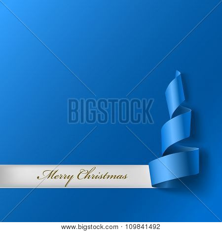 Christmas tree from ribbon