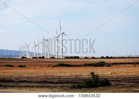 Wind generators in the Spanish countryside.