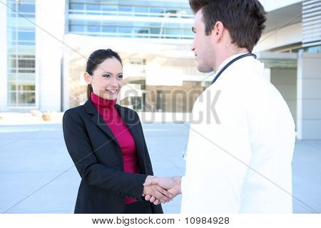 Doctor And Patient Handshake