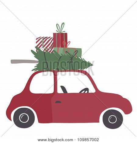 Special christmas delivery vector Illustration