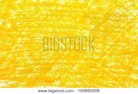 Background Yellow Crayon Drawing