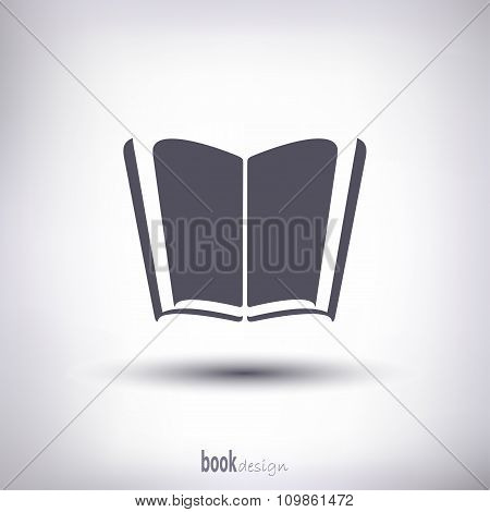 Open Book With Shadow