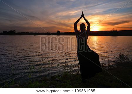 Sunset Meditation Tree Pose