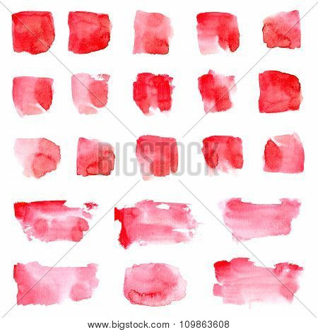 Red Watercolor Stain Set