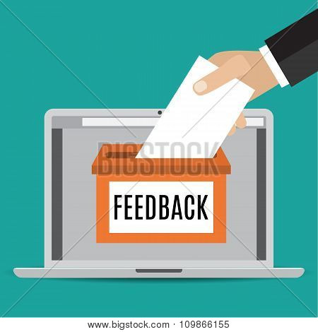 Online feedback concept.