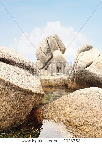 Big Stones In Water