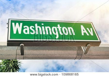 Washington Avenue In Miami - Florida United States