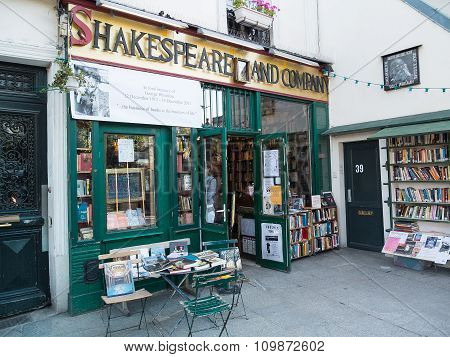 Famous Shakespeare And Company Bookstore, Paris