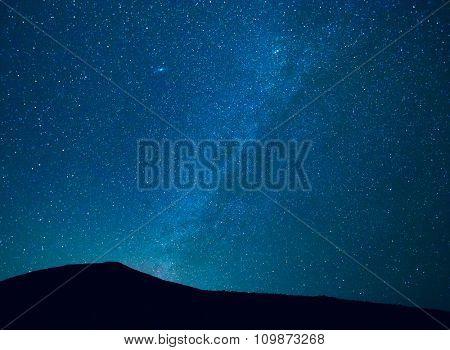 Stars in the Night Sky, Incredible Starry Night Sky with Galaxy Nebula