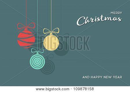 Vector Flat Christmas Balls. Stock vector illustration.