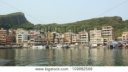 Scenery Of Keelung Port In Daytime