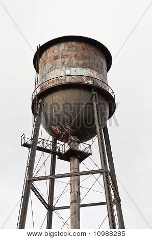 Rusty, Graffiti-covered Water Tower