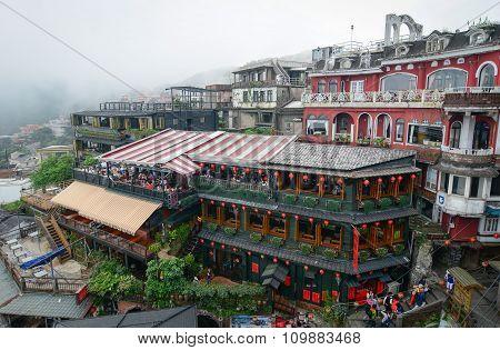 View Of Jiufen Town In Taiwan