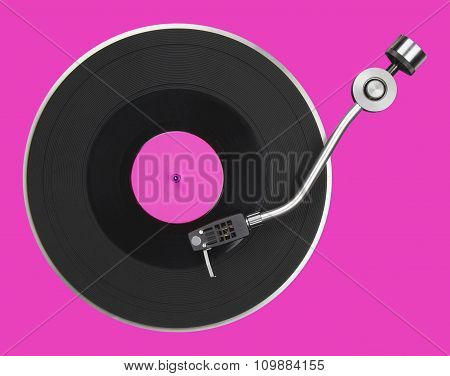 Abstract Pink Turntable
