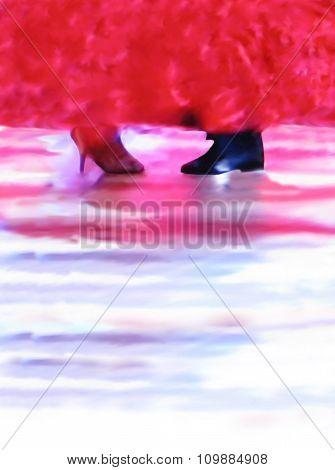 Ballroom dance background