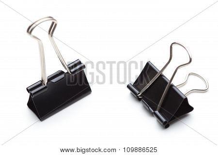 Two black paper clip