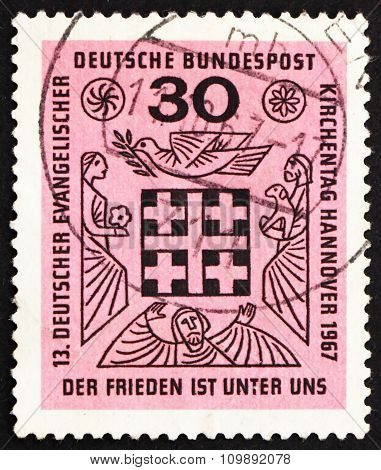 Postage Stamp Germany 1967 Peace Is Among Us