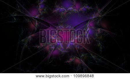 Deep Purple Abstract Art Illustration