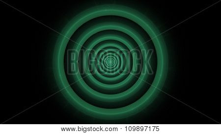 3D Bullseye Target WormHole Fractal Art Illustration