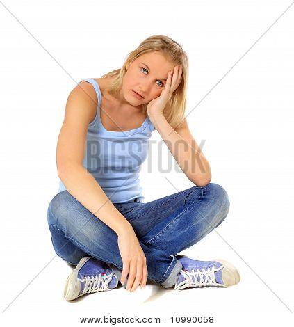 Frustrated scandinavian girl