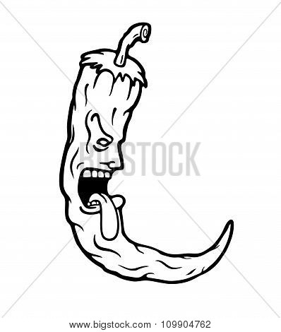 Hot Chili Illustration