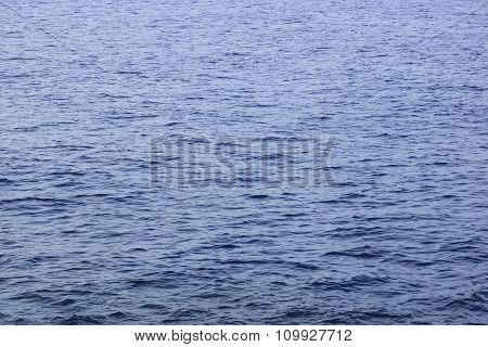 Dark Blue Ocean Water Small Ripples