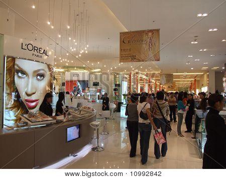 Cosmetics for sale on display, Bangkok, Thailand.