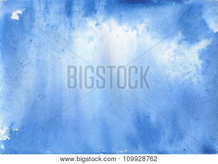 Abstract blue watercolor background. Space backgraund